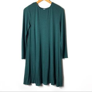 OLD NAVY Long Sleeve Sweater Dress Green Soft